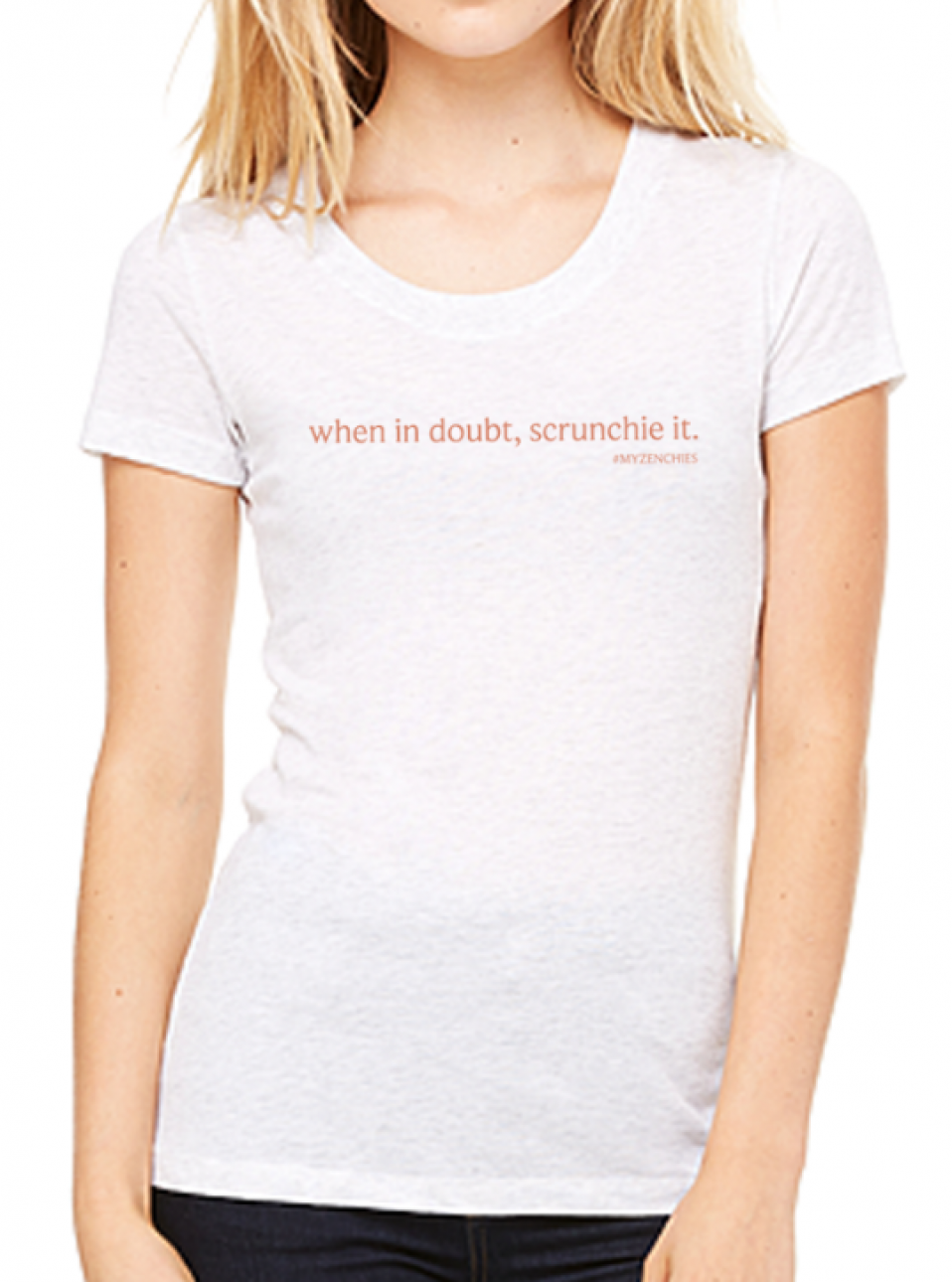 When in doubt Tee (White Fleck Triblend)