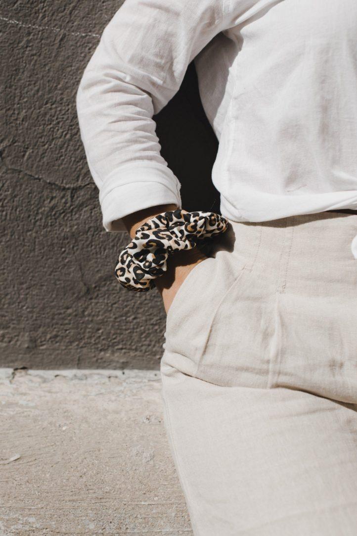 leaopard print scrunchie