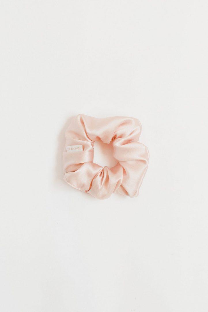 blush silk scrunchie