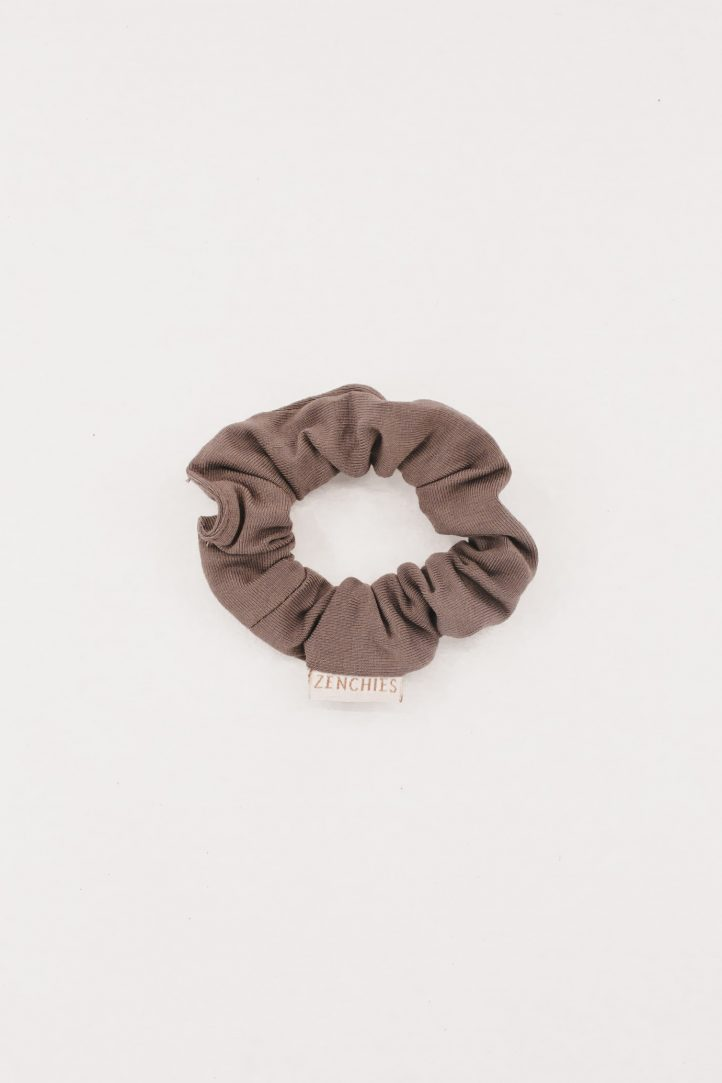 Thin Taupe Scrunchie