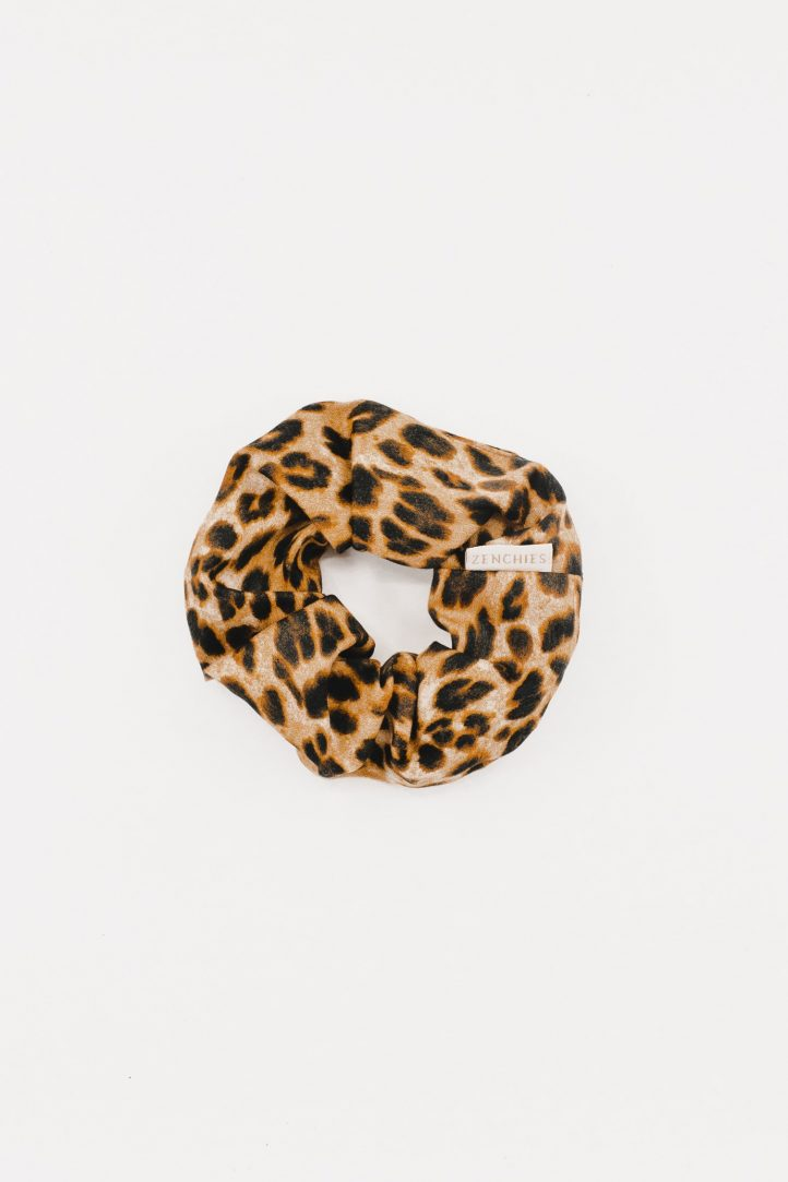 Haute Leopard Zenchies Scrunchie