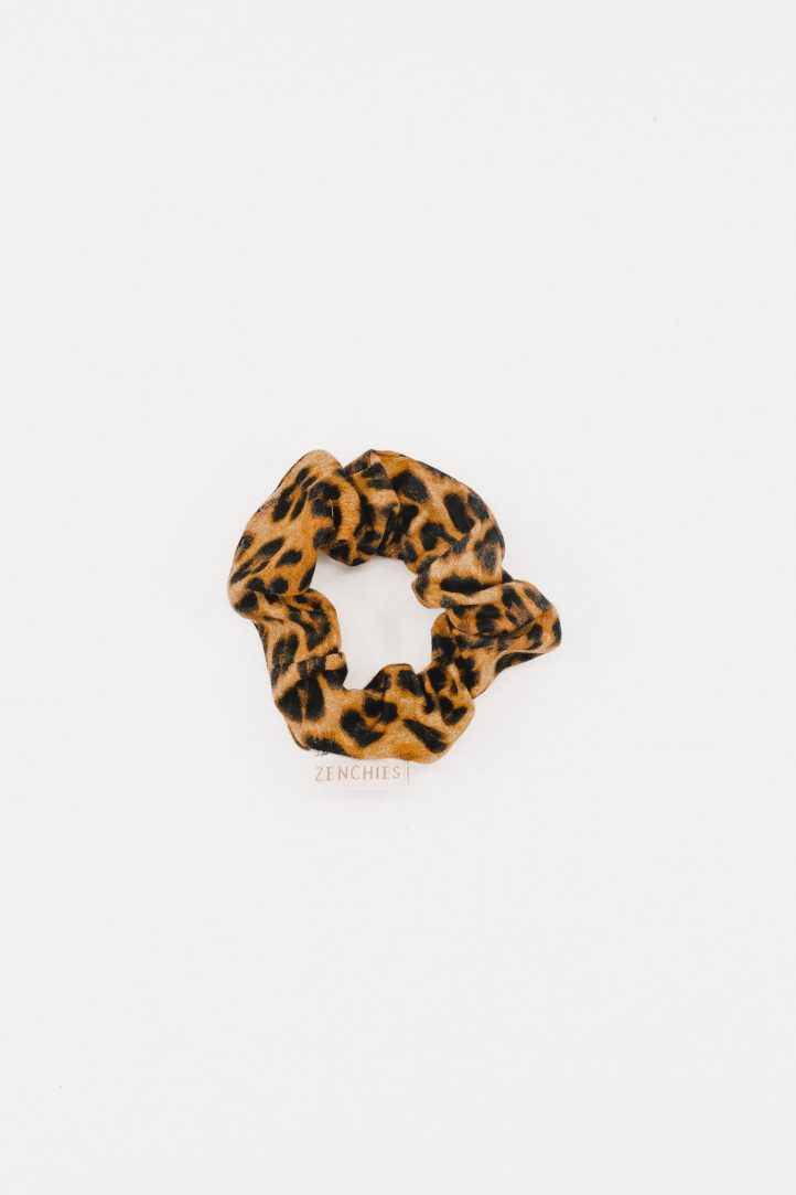 Haute Leopard Zenchies Scrunchie Thin